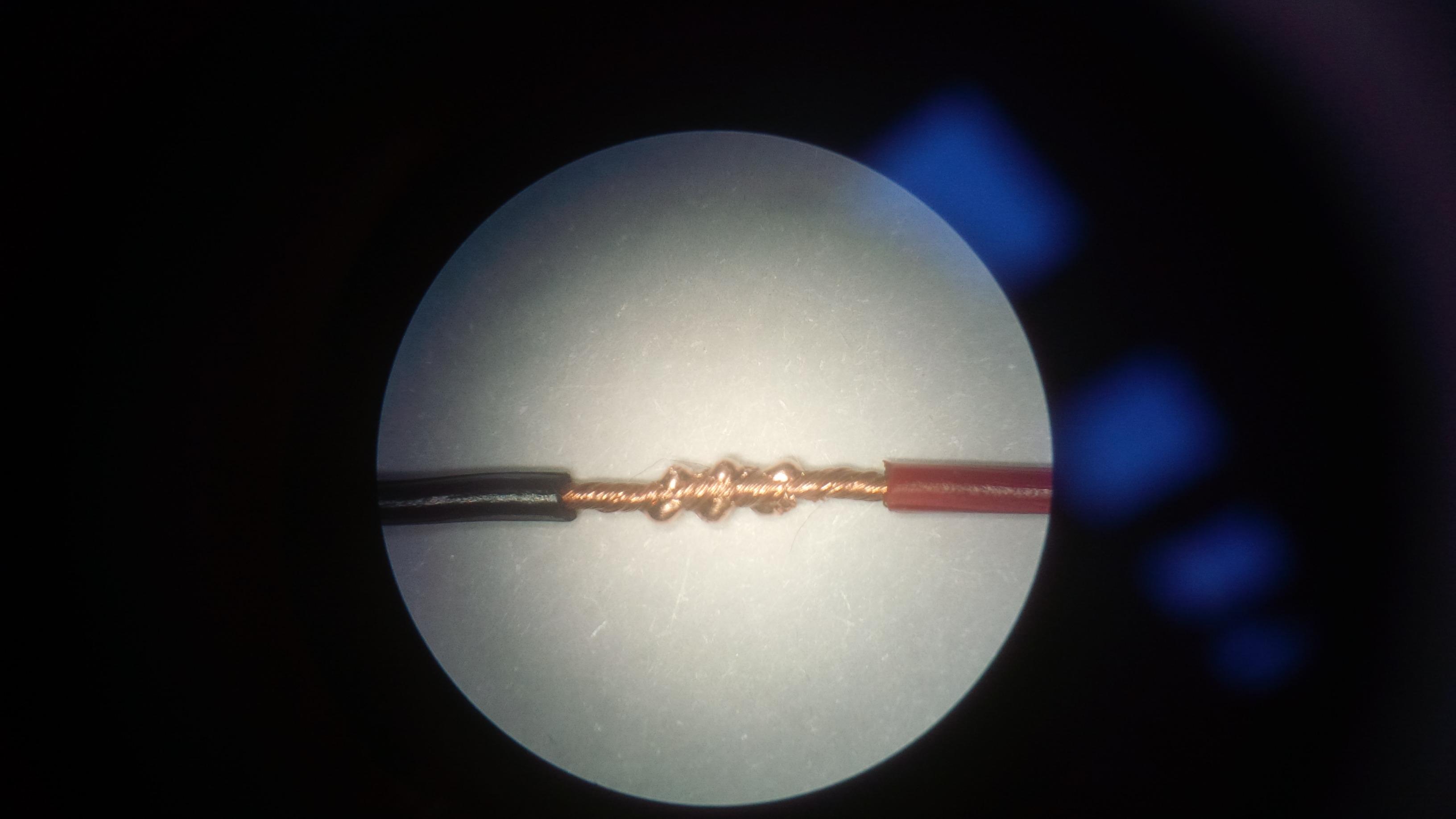 Сварка медных проводников - под микроскопом